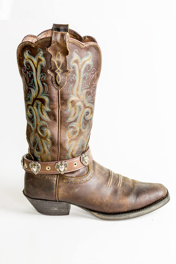 Amorette Boot JuJu on cowboy boot