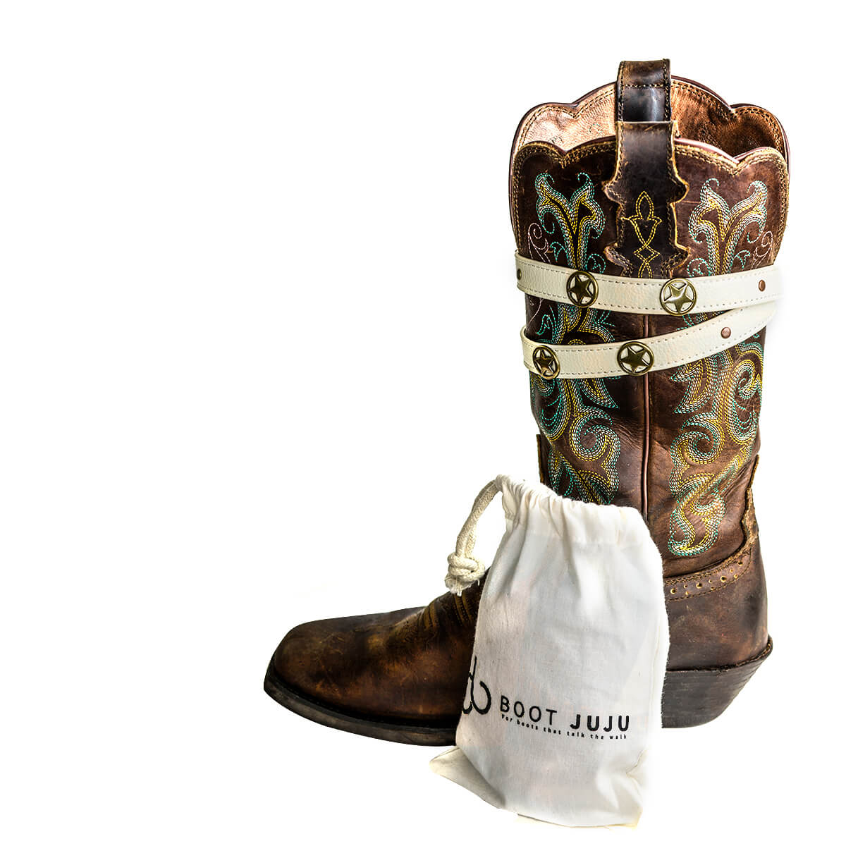 Dallas Double Strap Boot JuJu on cowboy boot