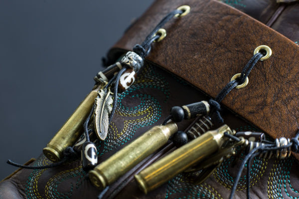 Close up of talisman Nola boot JuJu