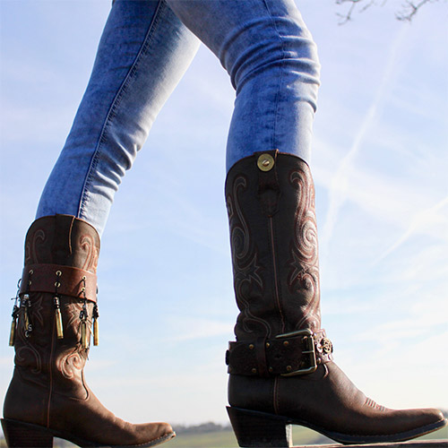Western Style Boot Straps