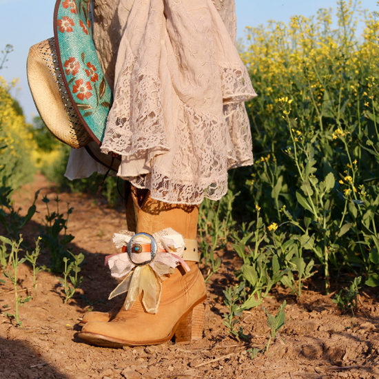 Pretty boot on girl in country